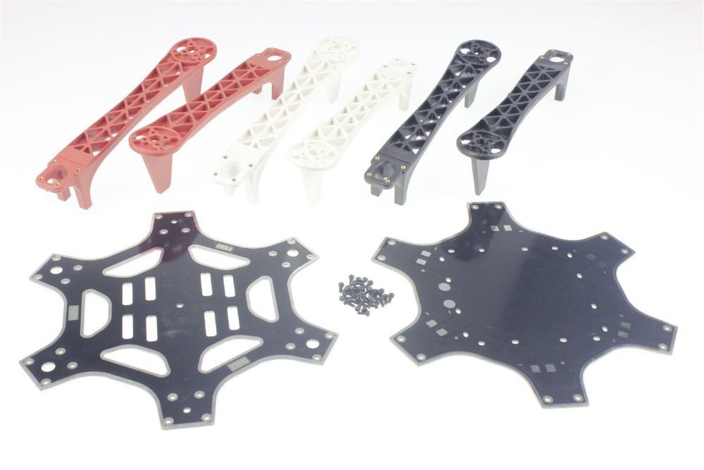 F05114 F550 Hexa-Rotor Air Frame FlameWheel Kit 550 mm As DJI For KK MK MWC MultiCopter Hexacopter UFO Heli + FS