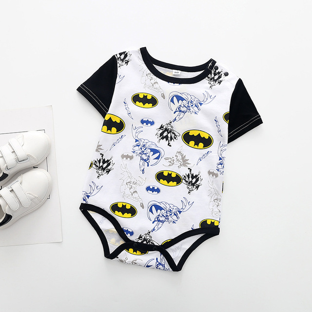 Superman Summer Baby Rompers Newborn Baby Boy Girl Romper Short sleeve Jumpsuit Clothes Baby Clothes Cotton Outfits 0-18M 5