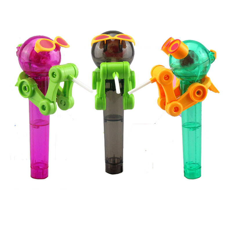 Lollipop Robot Decompression Candy Dustproof Toy Gift Creative Personality Toys Lollipop Holder Decompression Toys J0100