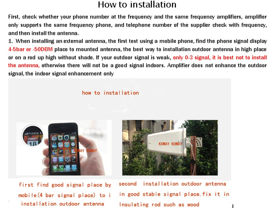how to installation 01 panel KOWAY