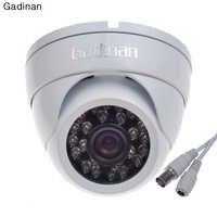 Gadinan analog Metal 24 na podczerwień IR 1000TVL CMOS dzień i kamera do monitoringu nocnego 2.8mm obiektyw szerokokątny wodoodporna odkryty KAMERA TELEWIZJI PRZEMYSŁOWEJ