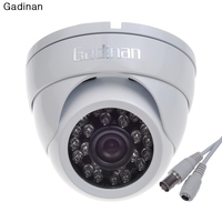 Gadinan analong metal 24 ir kızılötesi 1000tvl cmos gündüz & gece güvenlik kamera 2.8mm geniş lens su geçirmez açık cctv kamera