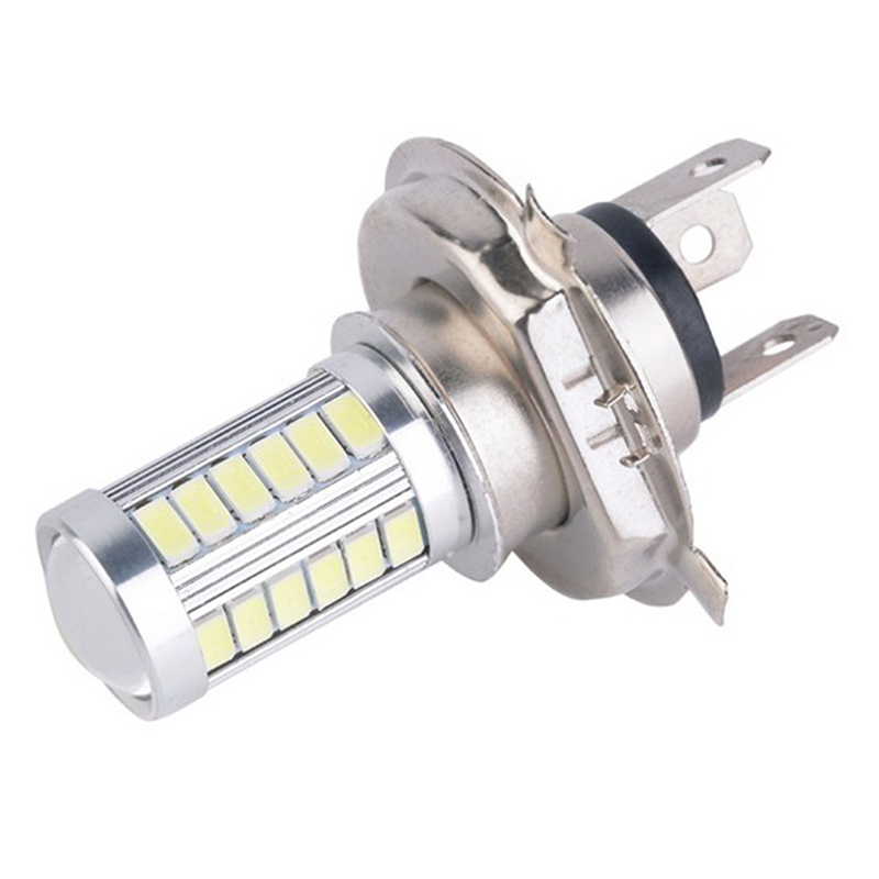 1Pcs H4 33SMD LED Motorcycle Headlight Bulbs 800LM 6500K Led Moto Motorbike Daytime Running Light Car Lights
