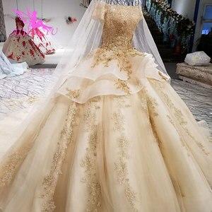 Image 3 - AIJINGYU איטלקי חתונה שמלות מלאך שמלות כלה מקלחת ארוך אירוסין גלימת נצנצים כדור סקסי אביזרי יוקרה תחרה כלה