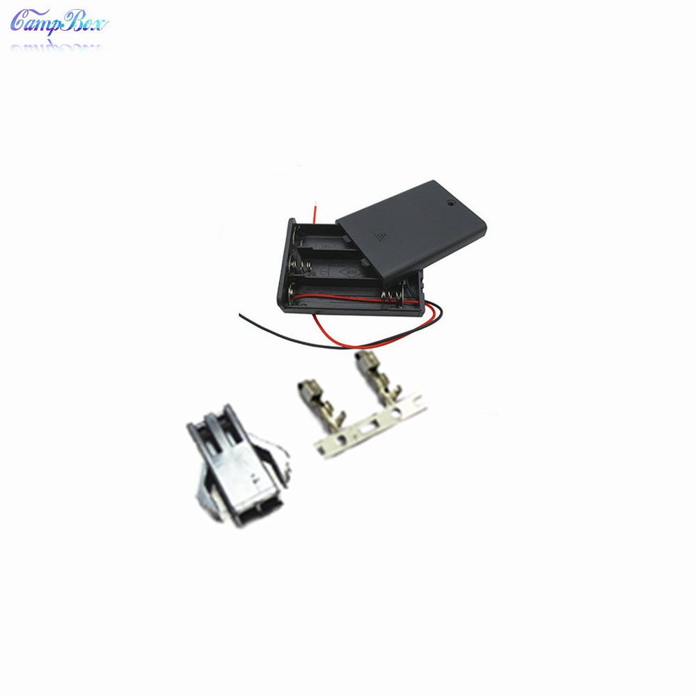 50pcs 3xaa battery case holder socket wire junction boxes with wires  switch u0026cover  sm2 54