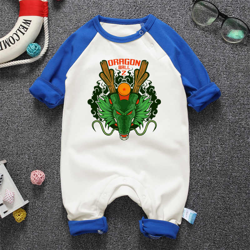 23293c97c Newborn Boy Girl Clothing Jumpsuit Long Sleeve Anime Dragon Ball Printing  Infant Cotton Romper Clothes Unisex Babies Overall