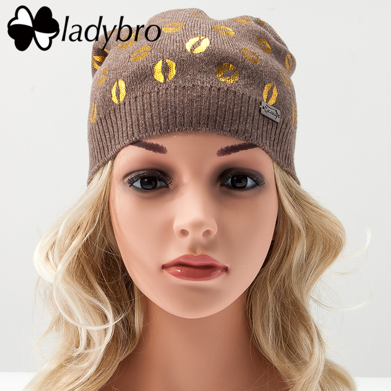 Ladybro Women Wool Beanie Cap Female Headgear Skullies Beanies Winter Hats For Girl Ski Cap Casual Lady Warm Knitted Hat Fashion simplee knitting wool ball skullies beanies casual streetwear warm hat cap women autumn winter 2017 cute beanie hat female