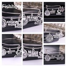 Fishhook DIY Outstanding Memorial Bracelet Special Gifts For Family With Navy Wife Army Mom Or Airforce Mom Marine Mom Charms(China)