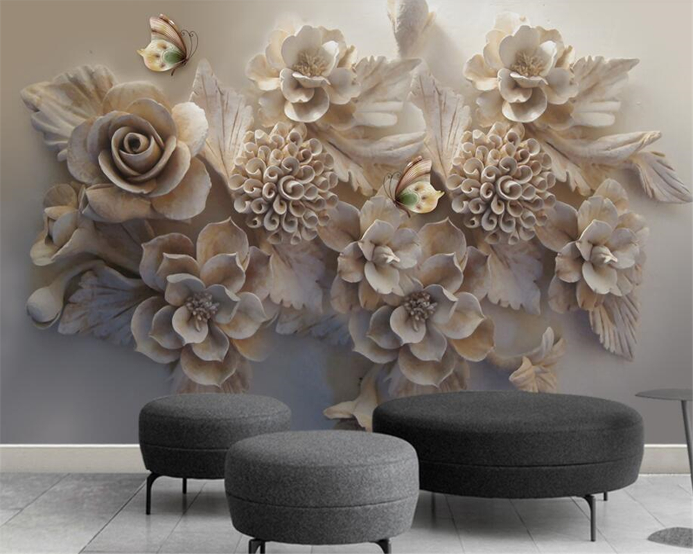 Beibehang Custom wallpaper murals home decor embossed flowers butterfly silk mural 3d living room bedroom TV sofa 3d wallpaper book knowledge power channel creative 3d large mural wallpaper 3d bedroom living room tv backdrop painting wallpaper