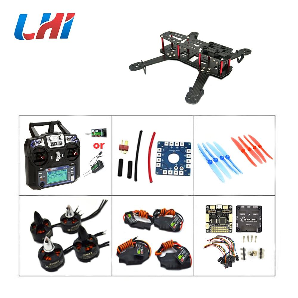 LHI Carbon Fiber Qav250 with1806 2400kv Brushless Motor 12A BLHELI ESC SP Racing F3 ACRO Flight Control FS-i6 of FPV Quadcopter стоимость