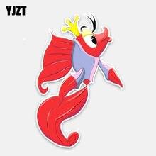 YJZT 10 CM * 15.5 CENTÍMETROS Engraçado Dos Desenhos Animados Peixe Peixinho Estilo Do Carro Etiqueta Do Carro PVC Decalques 5-0279