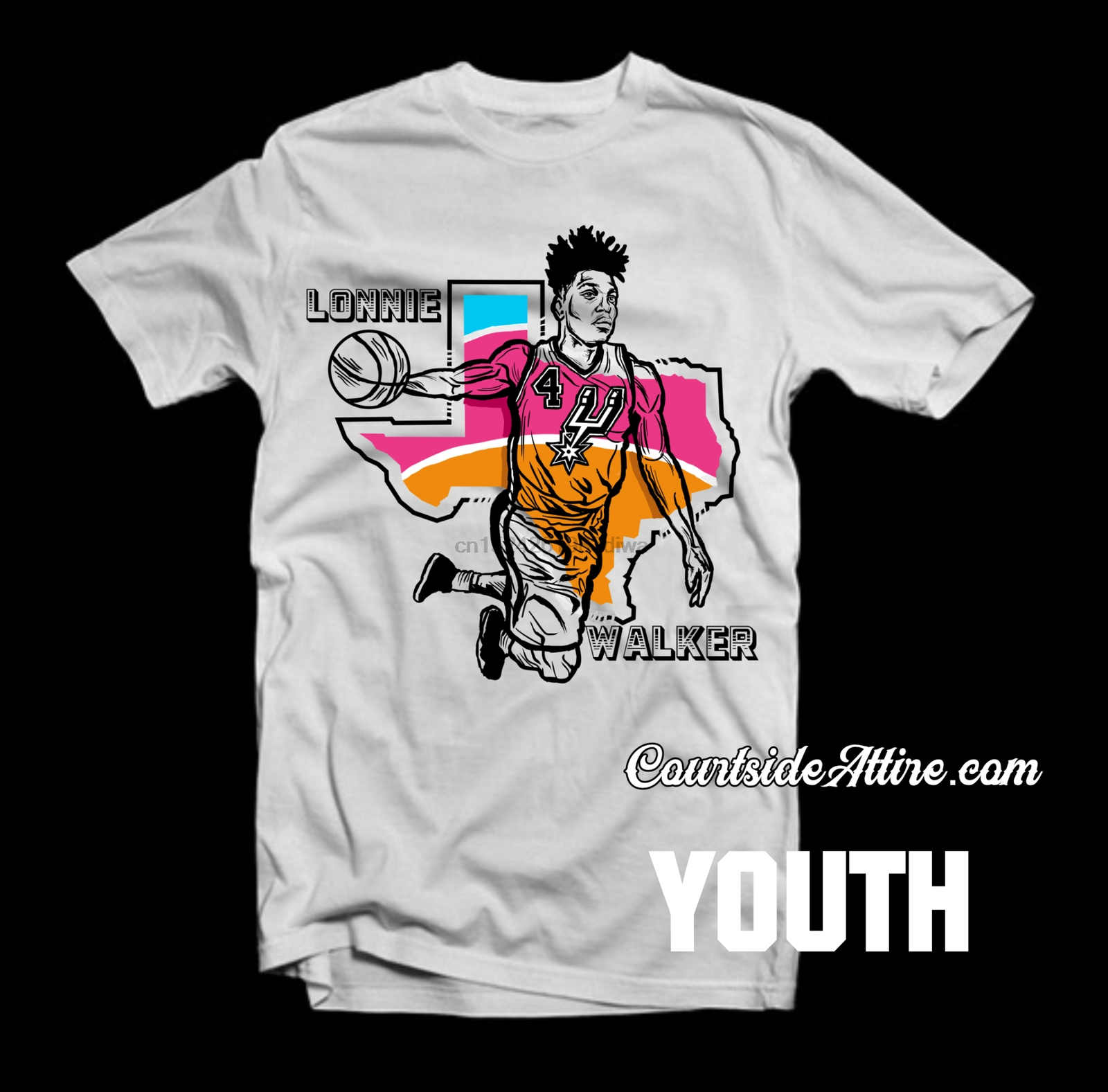 Youth Lonnie Walker San Antonio Shirt Kids Jersey In T