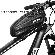 Wild Man Waterproof Hard Shell Large Capacity Bike Bag Bicycle Front Frame Phone Cycling Accessories Pouch for Road