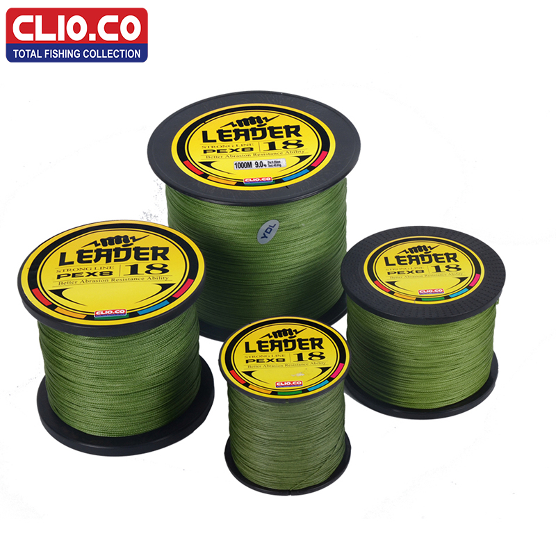 цена CLIO.CO100M 300M 500M 1000M Brand super strong Japan multifilament PE braided fishing line 8 strands braided wires 10-300LB