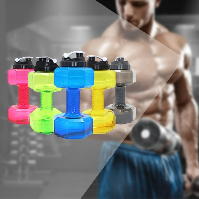 2.2 L Large Capacity Dumbbell Water Bottle For Gym 3