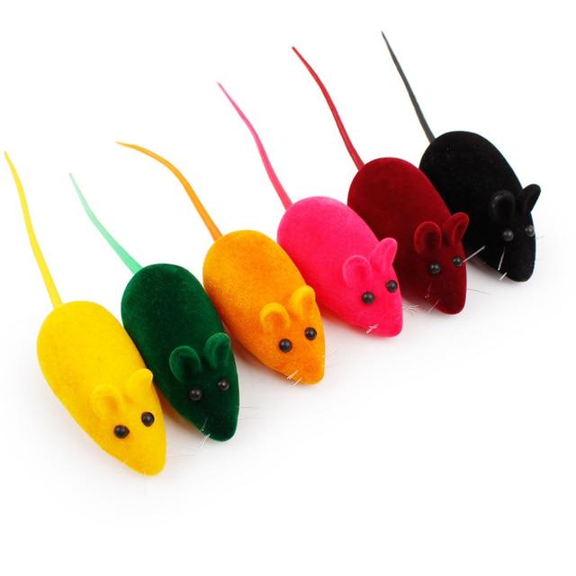 6 di colore Del Mouse A Forma di Giocattoli Gattino Cattura Toy False Topo Rat S