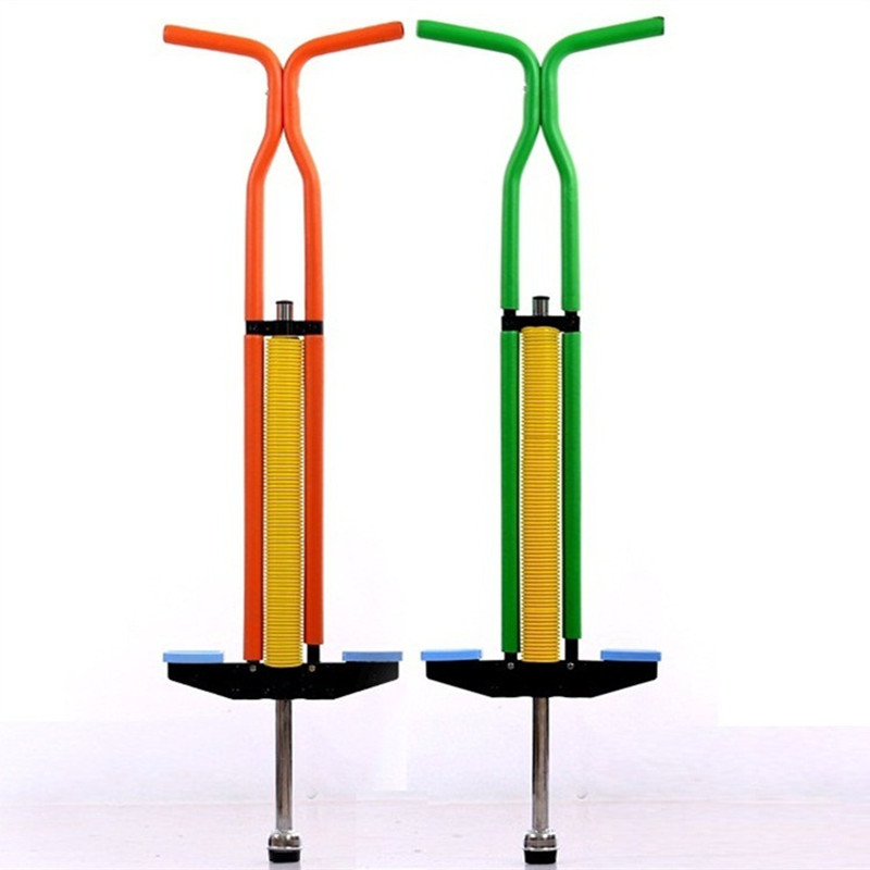 Children kid steel jump pole metal Jumping Stilit double pole Pogo Stick for kids Teenagers less than 30-60kg
