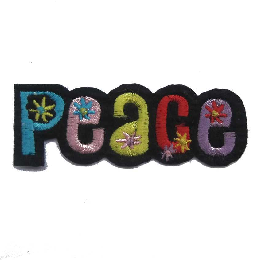 2018 Rushed Stickers Patches For Clothing 2pcs Peace Symbol Sign Hippie Boho Bohemian Boho-chic Diy Applique Sew Iron On Patch