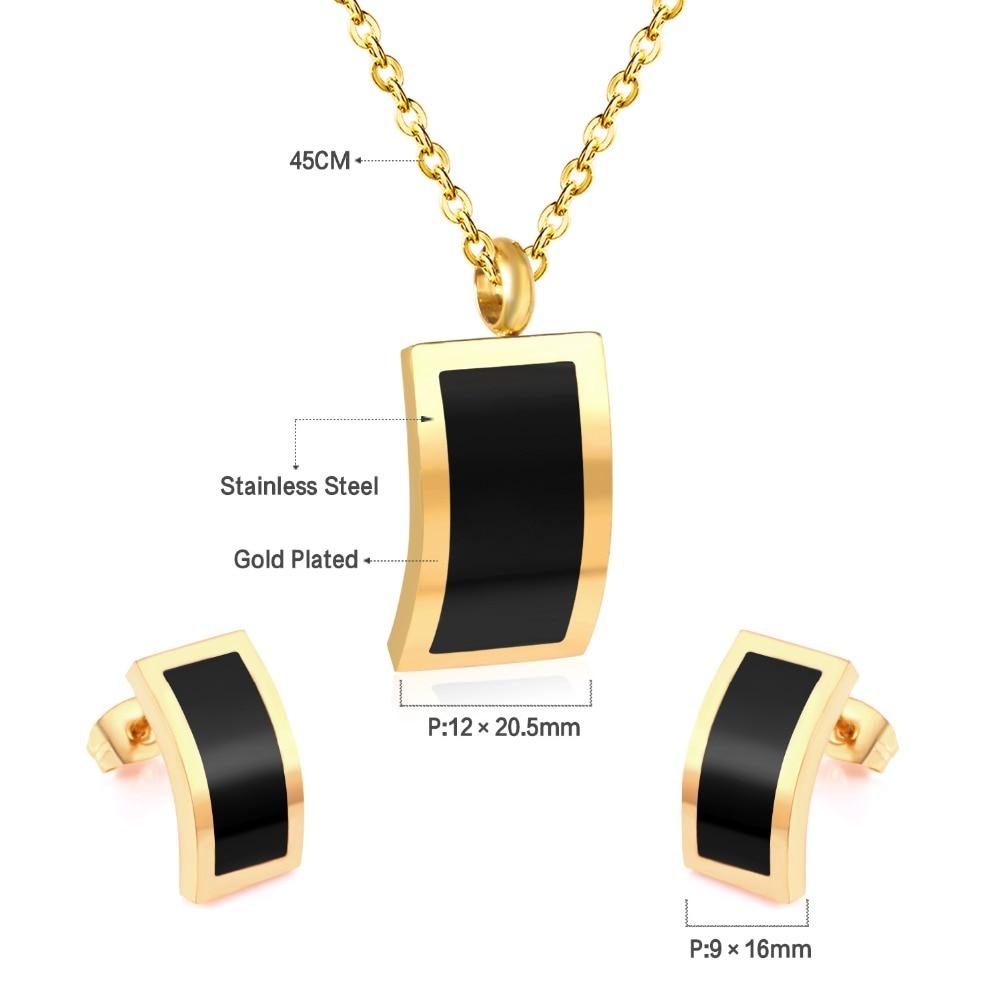 LUXUKISSKIDS Stainless Steel Black Shell Butterfly Jewellery Sets Necklace Earrings Wedding Bridal Dubai Jewelry Sets For Women 4