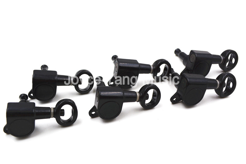 Niko Black/Silver Hole Cap Guitar Tuning Pegs Tuners Machine Head 6 In Line 6R Free Shipping Wholesales