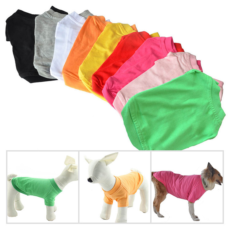 Pet Dog Clothes T-Shirt Dog Clothes For Samll To Large Dogs Cotton Vest Hoodie For Small Dogs Cats
