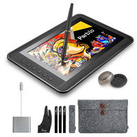 Parblo Mast10 10 1 Inches Graphic Tablet Monitor With Shortcut Keys And Battery Free Pen Passive