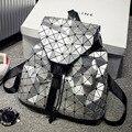 2016 mochila femenina BaoBao geométrica patchwork lentejuelas plaid mujer mochilas para adolescentes mochila bolsa con cordón mochila