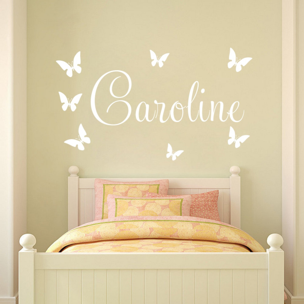 Customer made Personalised Name Among The Butterflies Wall Stickers ...