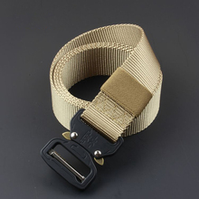 Mens canvas belt quick release metal buckle nylon training tactical military mens jeans