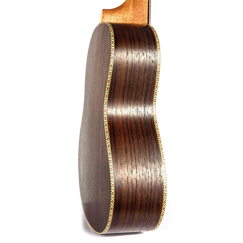 Guitare de voyage ukulélé électrique acoustique ténor de Concert de 23 pouces 4 cordes Guitarra bois acajou Plug-in musique Inst ukelele - 6