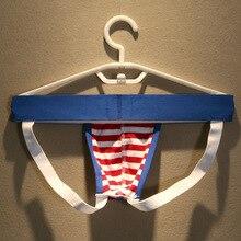 Casual Jockstraps Breathable Cotton Striped Gay Pride Underwear