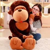 High Quality 80cm Super Funny Orangutan Plush&Stuffed Toy Cute Monkey Diamond Cartoon Doll Birthday Gift For Kids Children