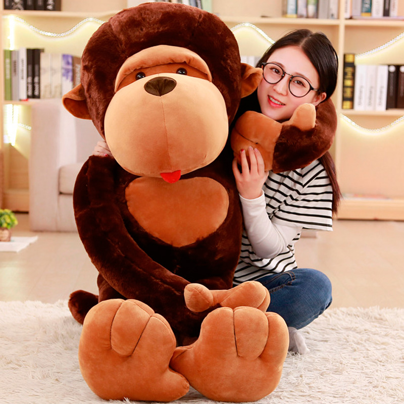 High Quality 80cm Super Funny Orangutan Plush&Stuffed Toy Cute Monkey Diamond Cartoon Doll Birthday Gift For Kids Children