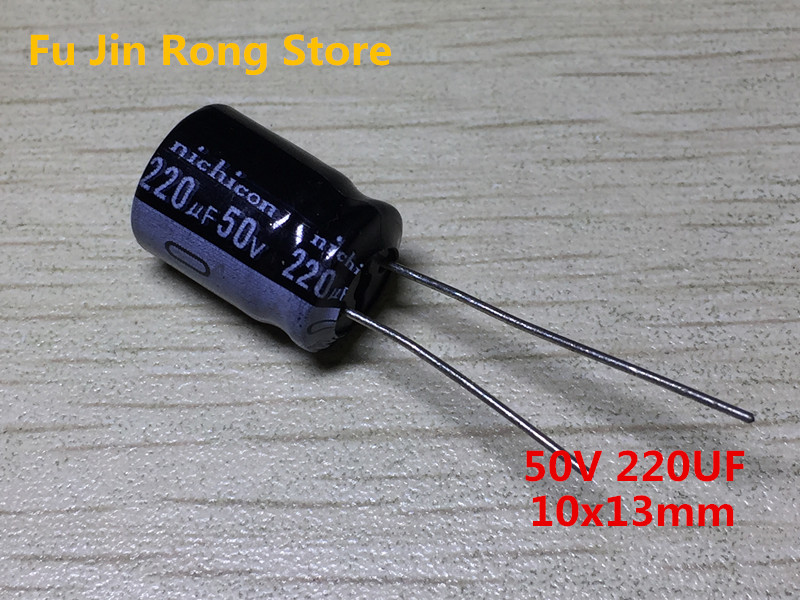 Original 10pcs/lot <font><b>50V</b></font> <font><b>220UF</b></font> 10x13mm Aluminum electrolytic capacitor <font><b>220uf</b></font> <font><b>50V</b></font> IC image