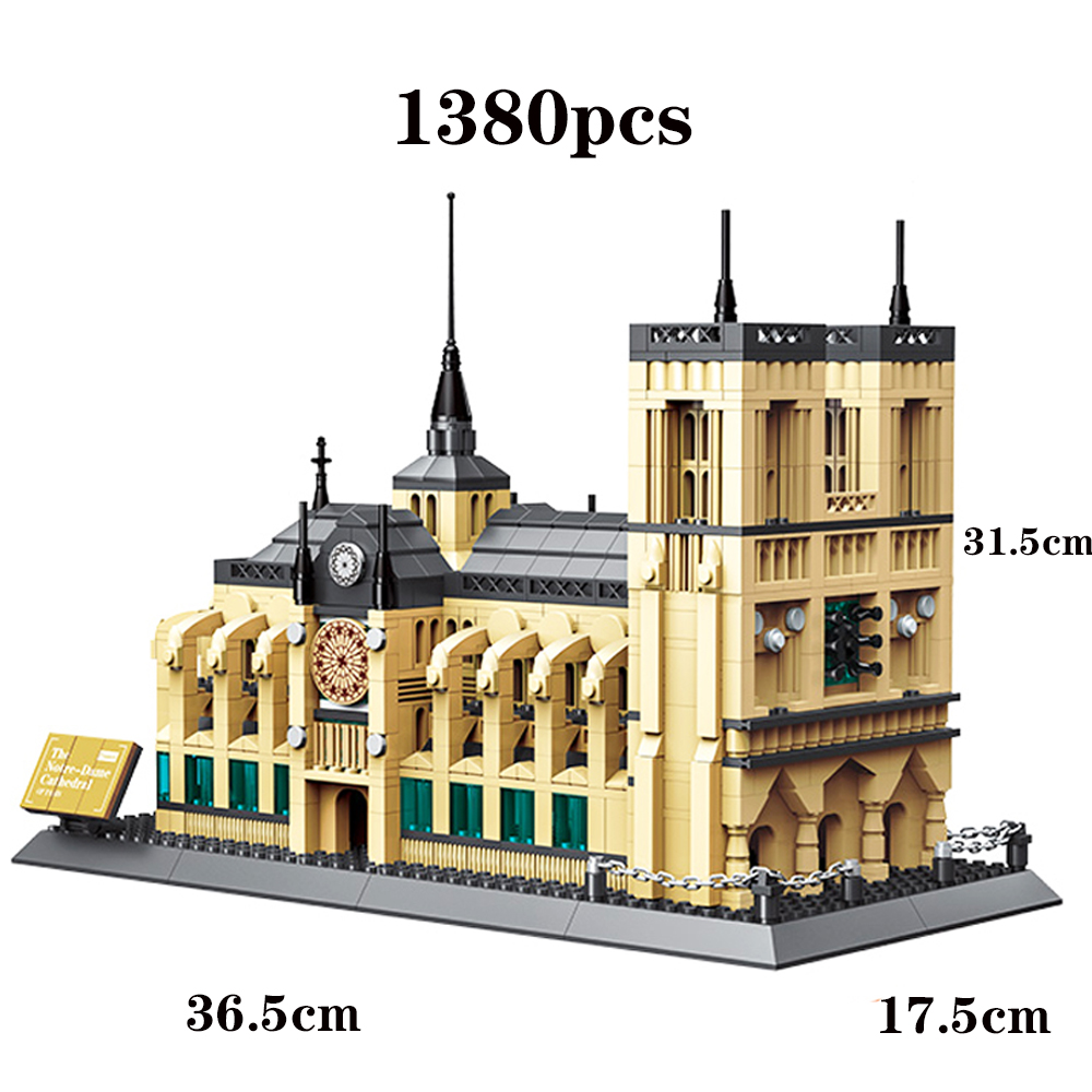 2019 New NOTRE DAME CATHEDRAL of Paris Compatible Legoing Architecture Building Blocks Classic Landmark Toys for Children Gift2019 New NOTRE DAME CATHEDRAL of Paris Compatible Legoing Architecture Building Blocks Classic Landmark Toys for Children Gift