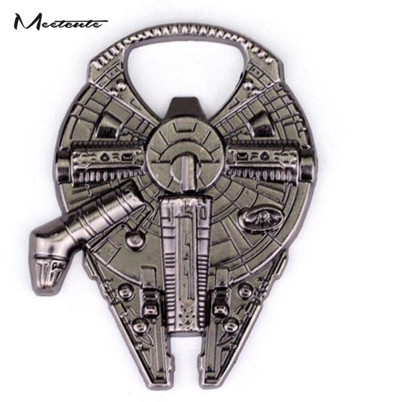 1pcs Millennium Falcon Spaceship Beer Bottle Opener Metal Alloy Tool Gift