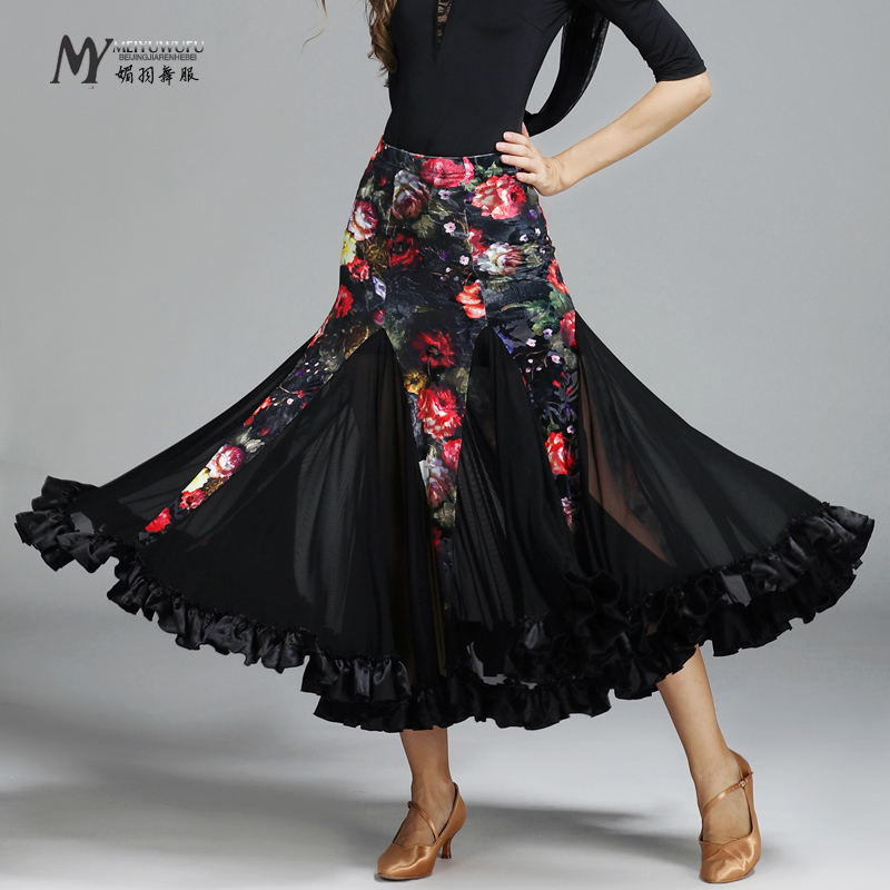 New design Ballroom Dance costumes Woman Modern Waltz Tango skirt /standard dance clothes MY778