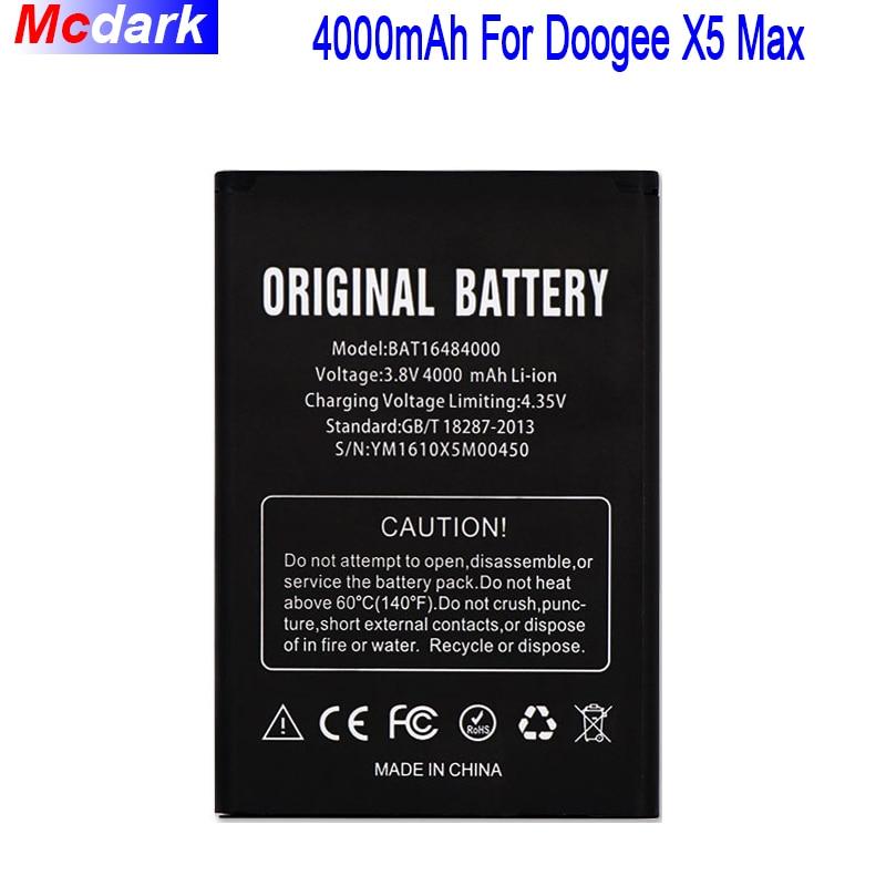Para DOOGEE X5 MAX batería para DOOGEE X5 MAX Pro batería acumulador de AKKU 4000 Mah