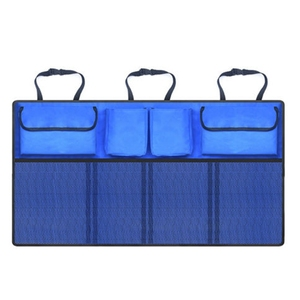Image 4 - Auto Car Organizer Trunk Back Seat Universal Storage Bag Mesh Net Pocket Bag 4 Colors