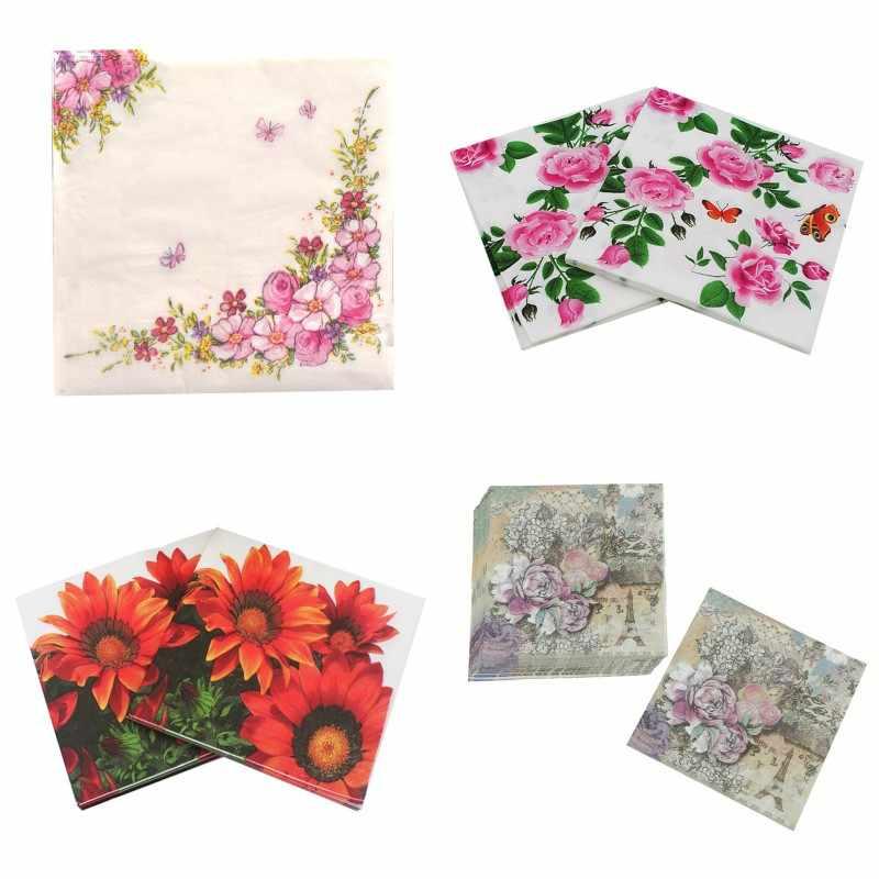 Art Style Tissue serviettes 33/x 33/cm FLOWER 6 lot de 20