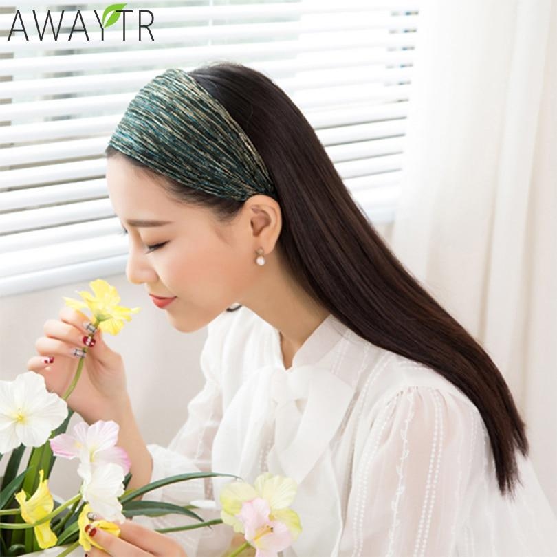 New Design Headwear For Women Shiny 8 CM Wide Headband Headwraps Wave Pattern Teeth Hair Hoops For Tiara Shiny Hair Ornaments