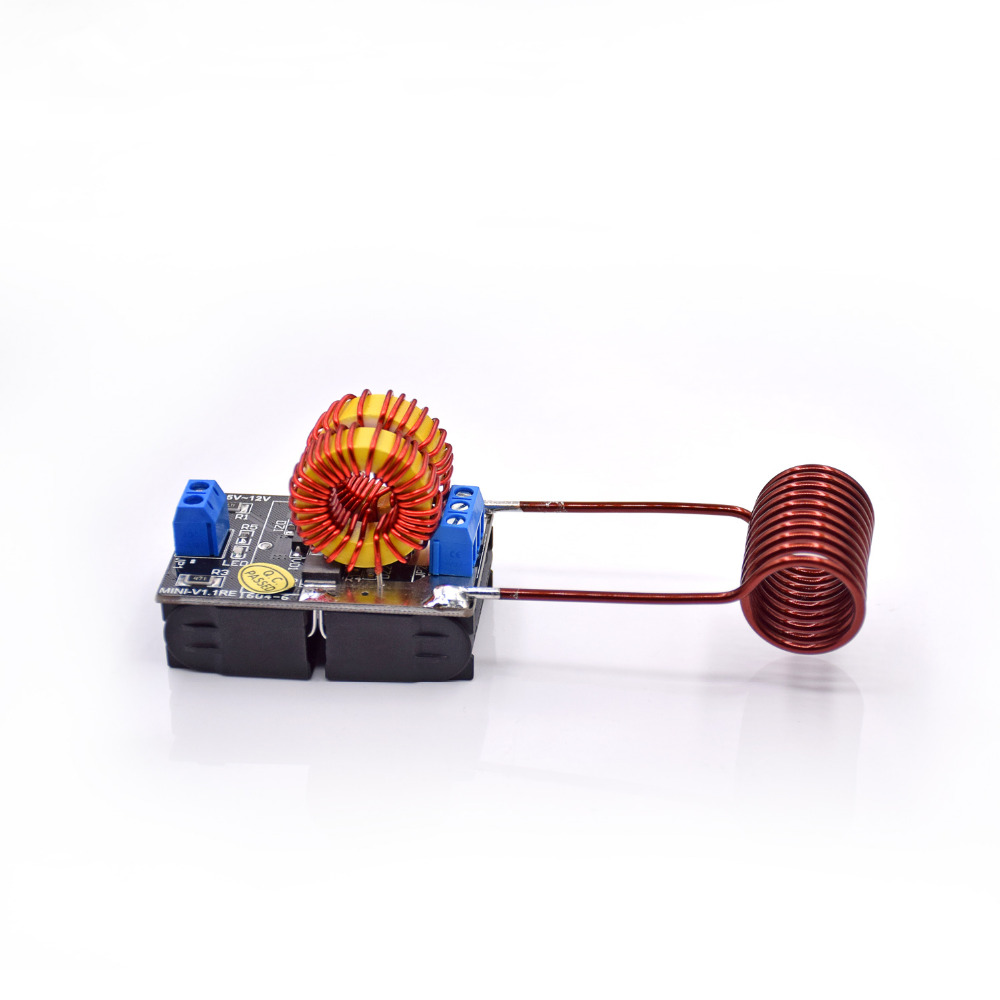 Envío Gratis 5 V 12 V ZVS inducción calefacción fuente de alimentación módulo Tesla Jacob escalera + bobina