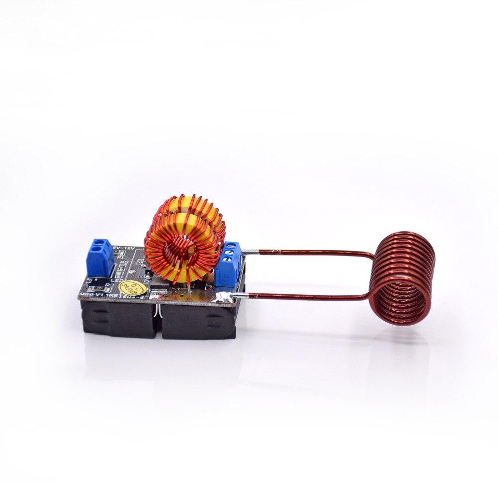Envío libre 5 V ~ 12 V zvs módulo de alimentación de calefacción por inducción Tesla Escala de Jacob + bobina