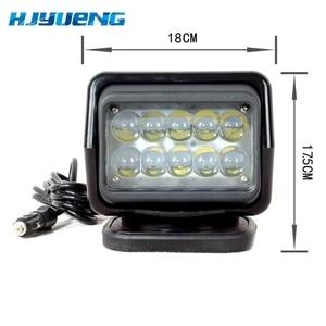 Image 2 - 1pc 50W bezprzewodowe oświetlenie marynistyczne Led latarka 12V 24V LED wyszukiwanie światła pilot światło punktowe światło diodowe do samochodu 12V