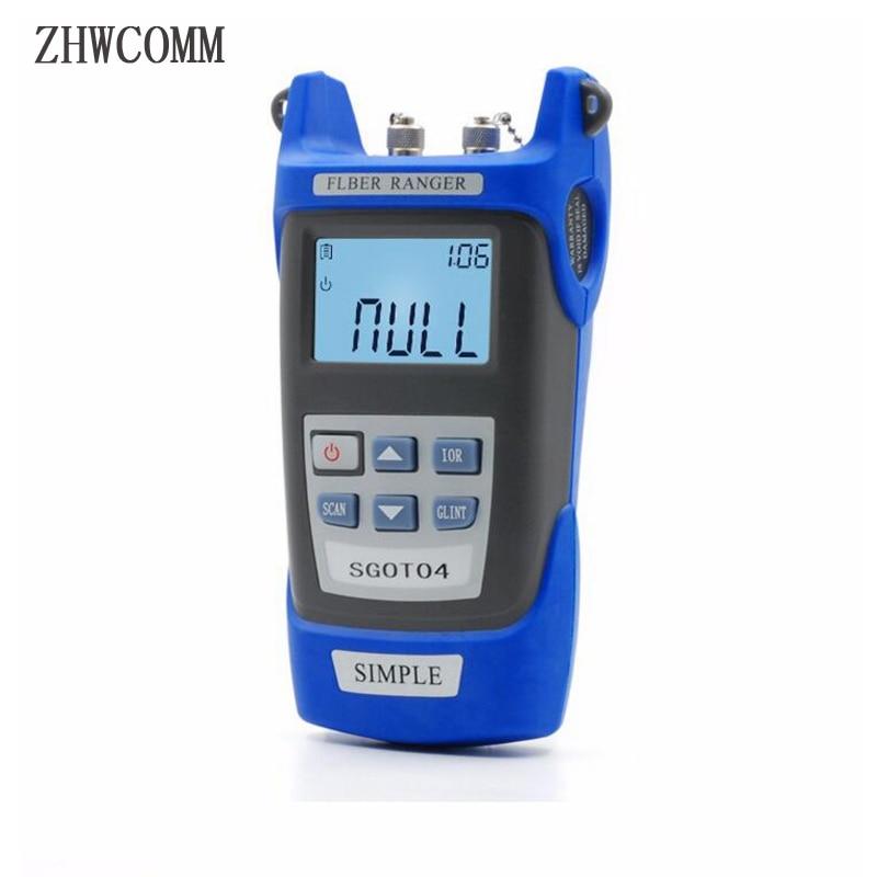 ZHWCOMM SGOT04 Handheld OTDR 60KM Fiber find fault tester 1310or1550nm Fiber breakpoint fault detector with VFL FC/SC Connector