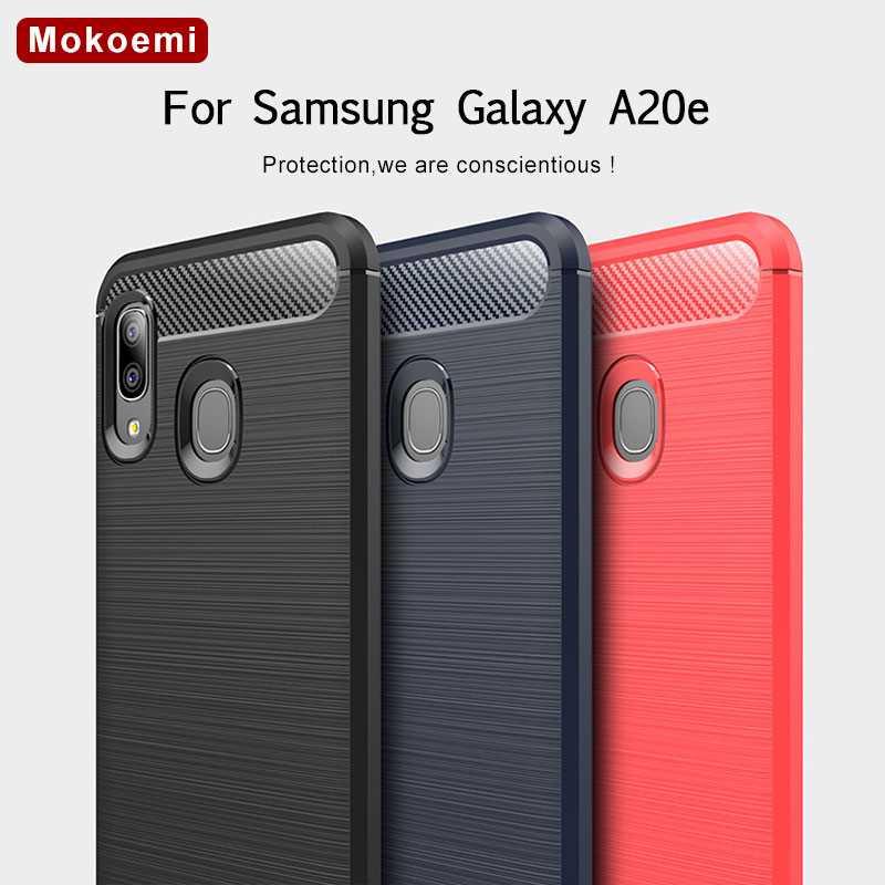 "Mokoemi 5.8 Fashion Soft Silicone Shock Test ""For Samsung Galaxy Case For Samsung Galaxy A20e Case Cell Phone Case Cover A20e"