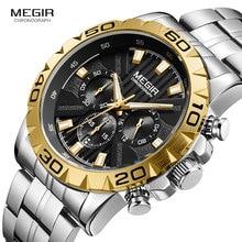 купить 2019 New MEGIR Watch Men Chronograph Quartz Business Mens Watches Top Brand Luxury Waterproof Wrist Watch Reloj Hombre Saat 2087 дешево