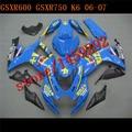 HW- Fairing kit for GSXR600 2006 2007 GSXR750 K6 K7 06 07 A GSXR 600 750 06 07 blue Fairing parts