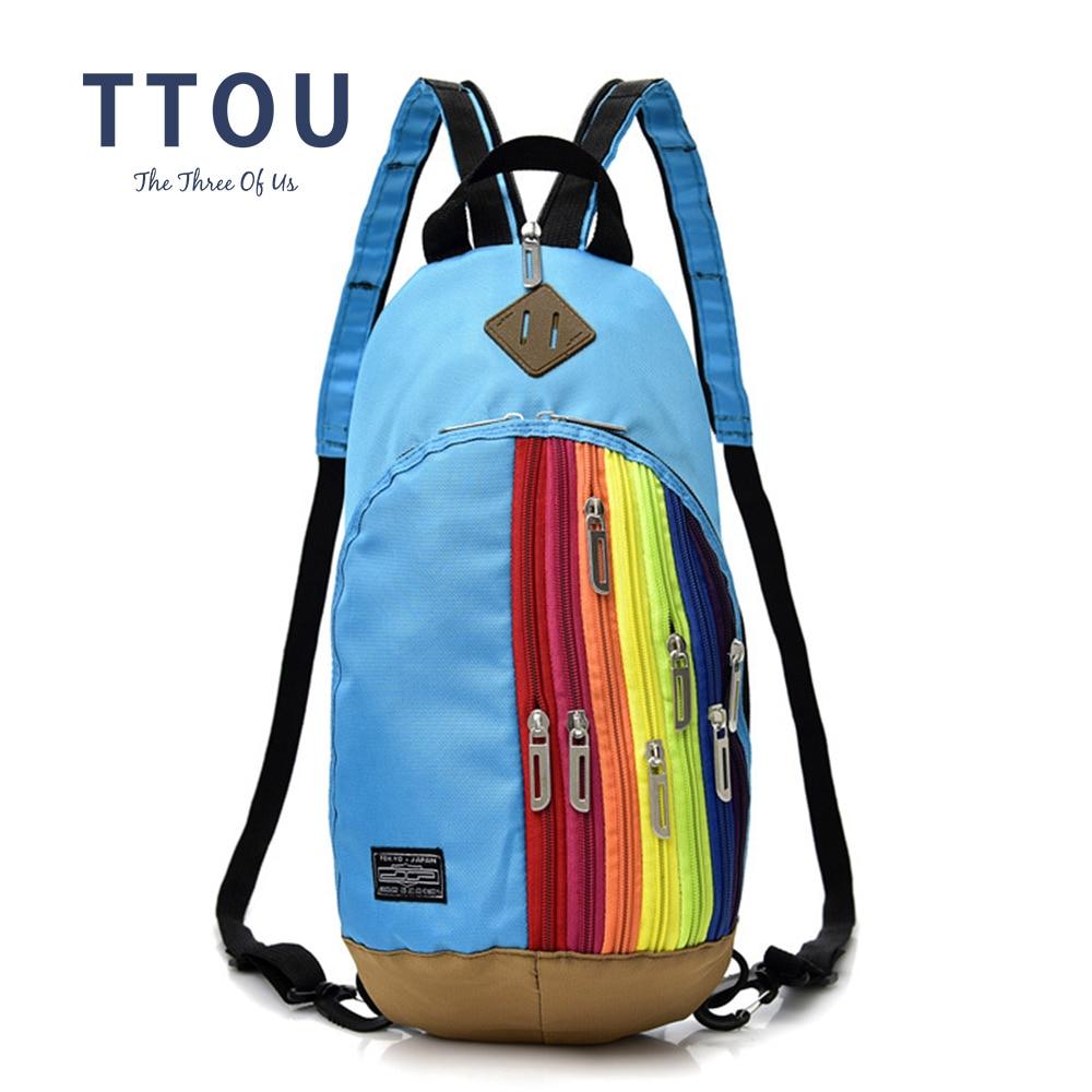 TTOU New Parent-Children Dual-Use Rainbow Backpack Women Cross-body Chest Bag Korean Girl Boys Small Backpack TTOU New Parent-Children Dual-Use Rainbow Backpack Women Cross-body Chest Bag Korean Girl Boys Small Backpack