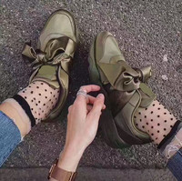 2017 Women Lace Up Causual Shoes Star Platform Shoes Fashion Big Bow Tie Weave Flat Heels Casual Shoes Gladiator Shoes Big Size